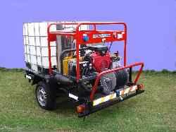Hidrolavadora autónoma de alta presión con caldera