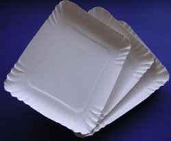 Bandejas de cartón redondas y rectangulares