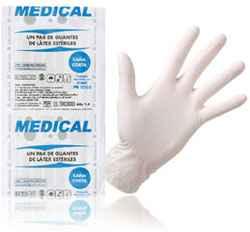 Guantes de latex para curación - blancos
