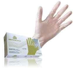 Guantes de latex-vinilo sin polvo para curación