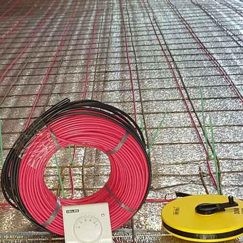 Cables calefactores para losa radiante eléctrica