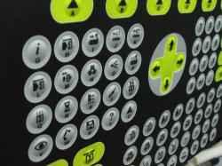 Teclados con circuitos flexibles